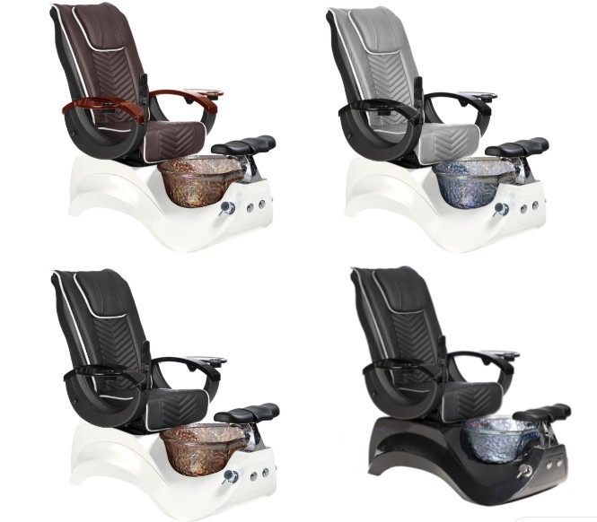 pipeless pedicure chair spa no plumbing black manicure pedicure chair set manufacturer and wholesale china DS-S16B