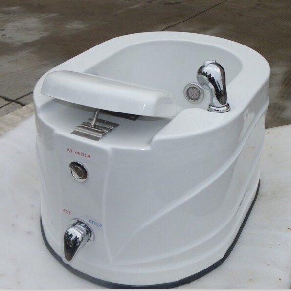 China factory wholesale portable fiberglass pedicure sink with jets