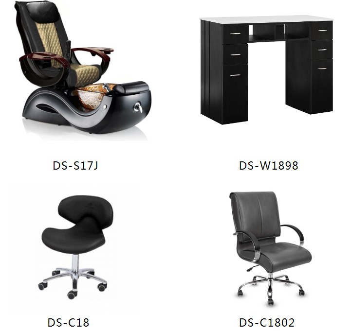 salon package of pedicure spa nail table of complete salon equipment package wholesale supplier DS-S17J SET