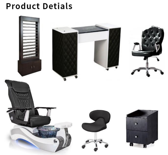 pedicure massage chair with nail tables supplier of best nail salon furniture collocation wholesale china DS-W89 SET