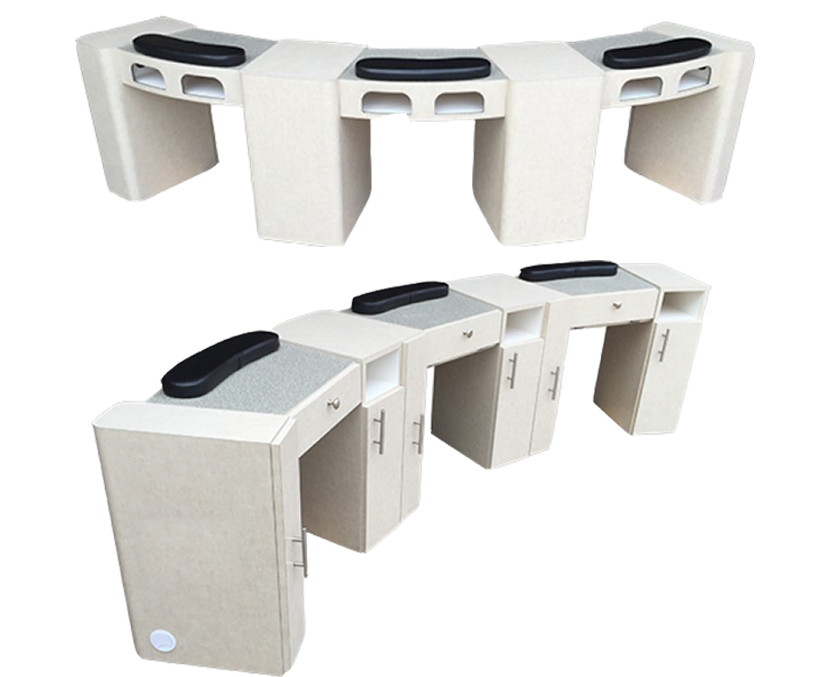 nail station tables double manicure table nail bar triple manicure table wholesale china DS-W2020A