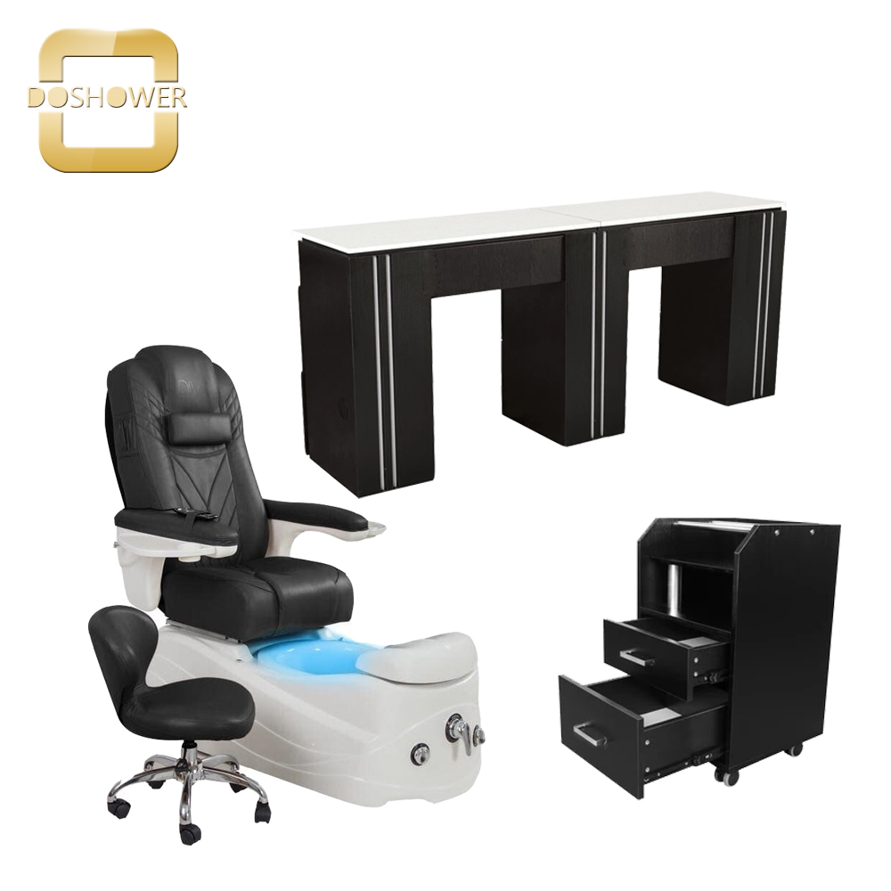 air ventilation nail table manicure professional salon double manicure table and chair wholesale china DS-N2048