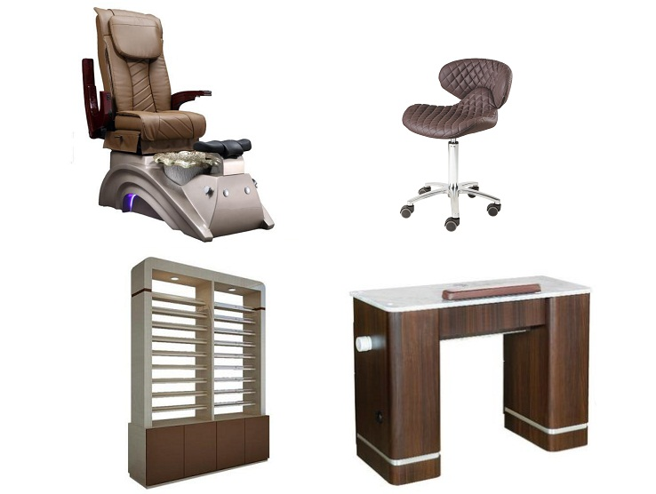 pedicure chair package nail salon package of manicure table and pedicure chair wholesale DS-X22A SET