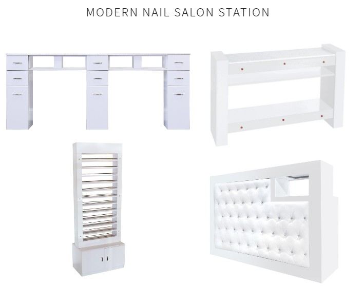 nail salon manicure station nail dryer table nail polish dispay rack stand DS-N91214 SET