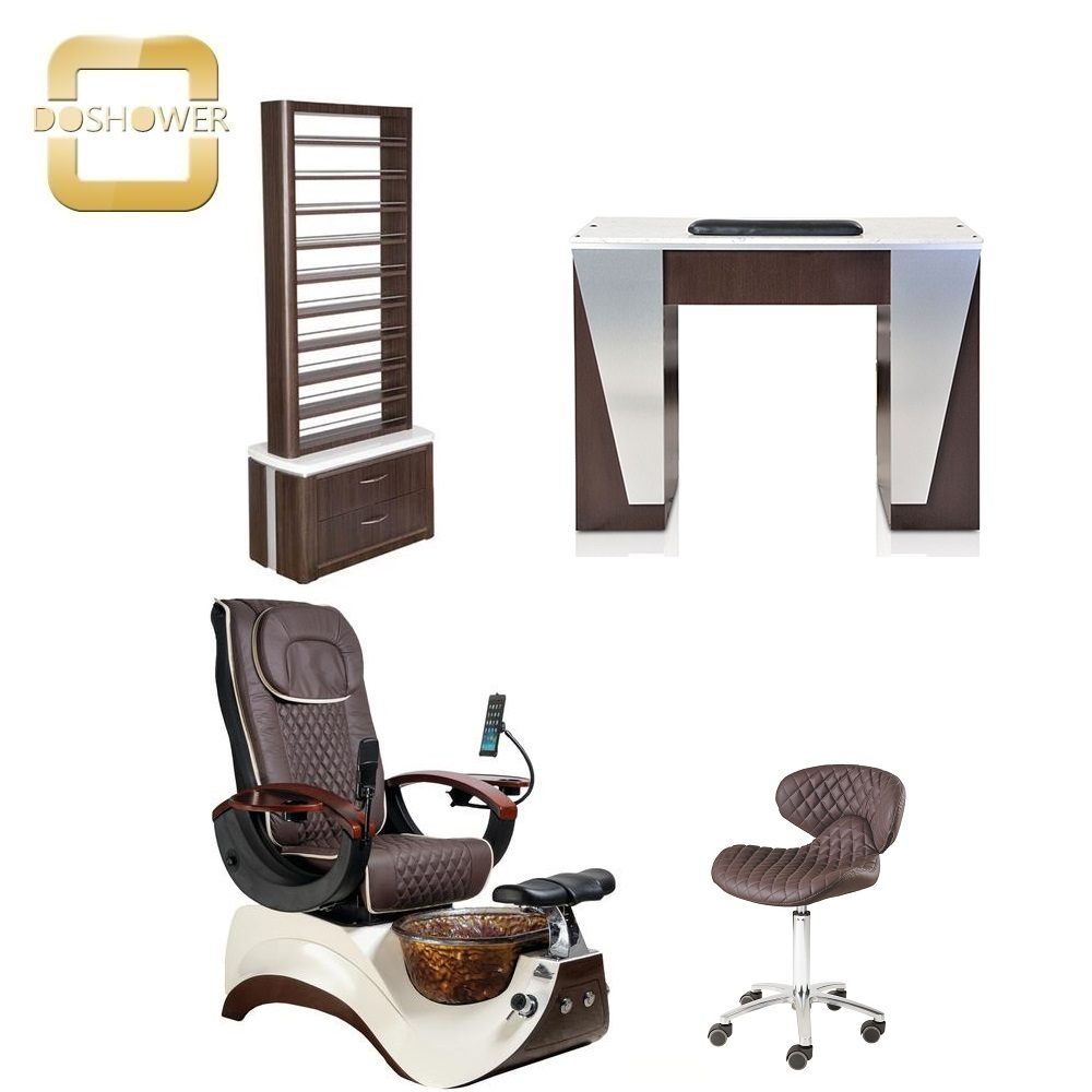 marble nail table with manicure chair station nail salon beauty salon nail polish table station DS-W18111 SET