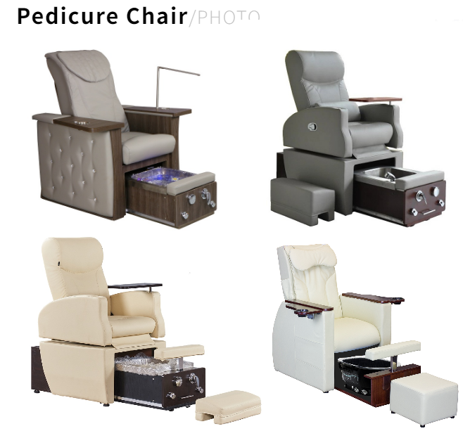 pedicure chair with no plumbing foot spa sink and modern nail table tech chair set china DS-N04A SET