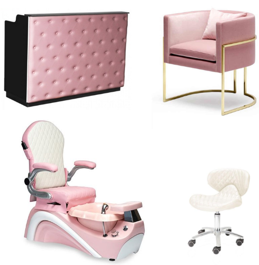 pink kid foot spa pedicure chair with kids spa furnitur wholesale china DS-KID SET