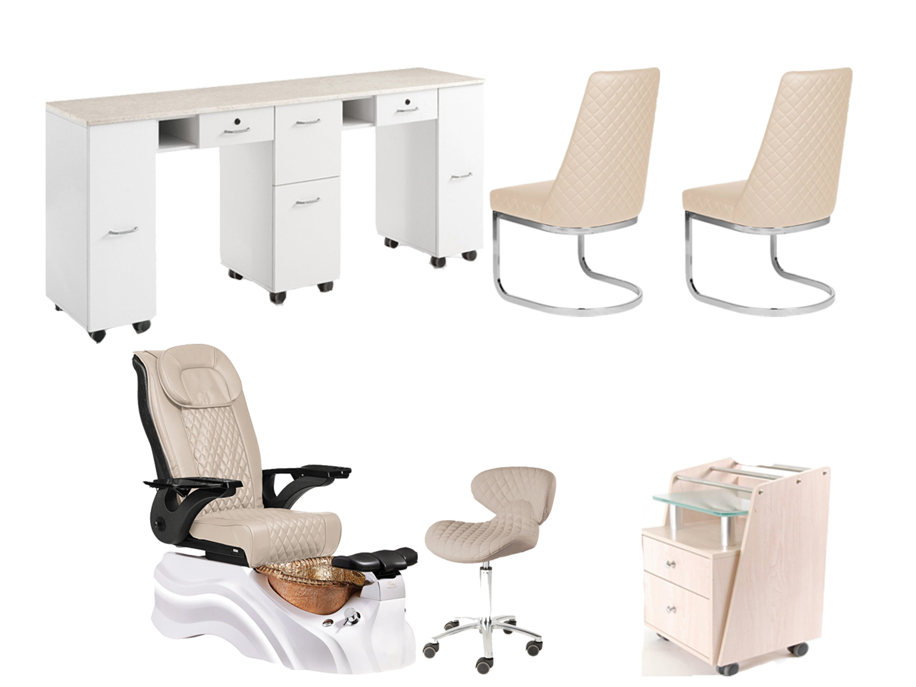 luxury salon furniture pedicure massage chair with nail table china suppliers DS-W2016 SET