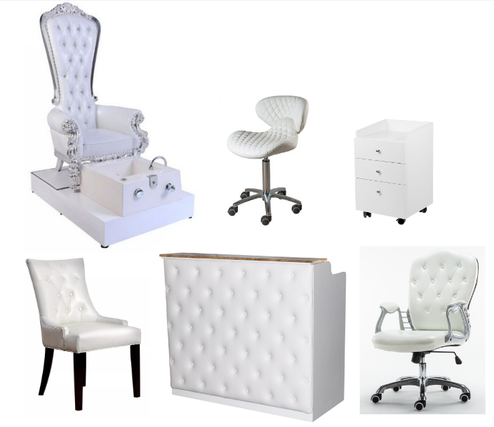 lux tufted customer waiting chairs with beauty salon furniture styling chairs wholesale china DS-C207