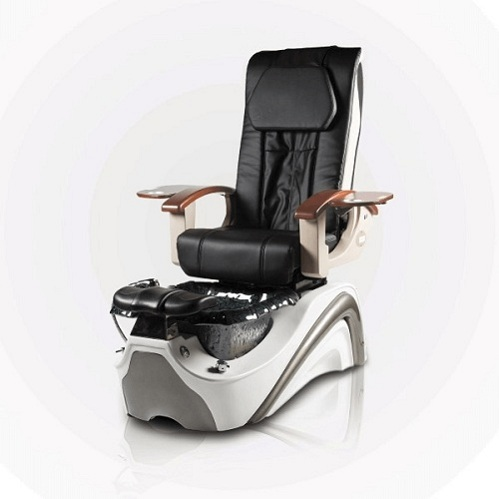 White and Silver foot massage chair with spa salon chairs manufacturer