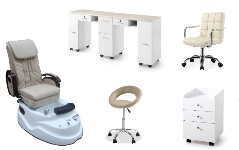 cheaper pedicure spa chair with nail salon manicure table cheap pedicure chair furniture for sale DS-3A SET