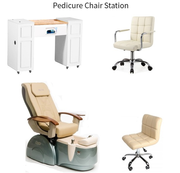 Modern Pedicure Chair and Manicure Table Set Hot Salon Nail Spa Furniture DS-4005 SET