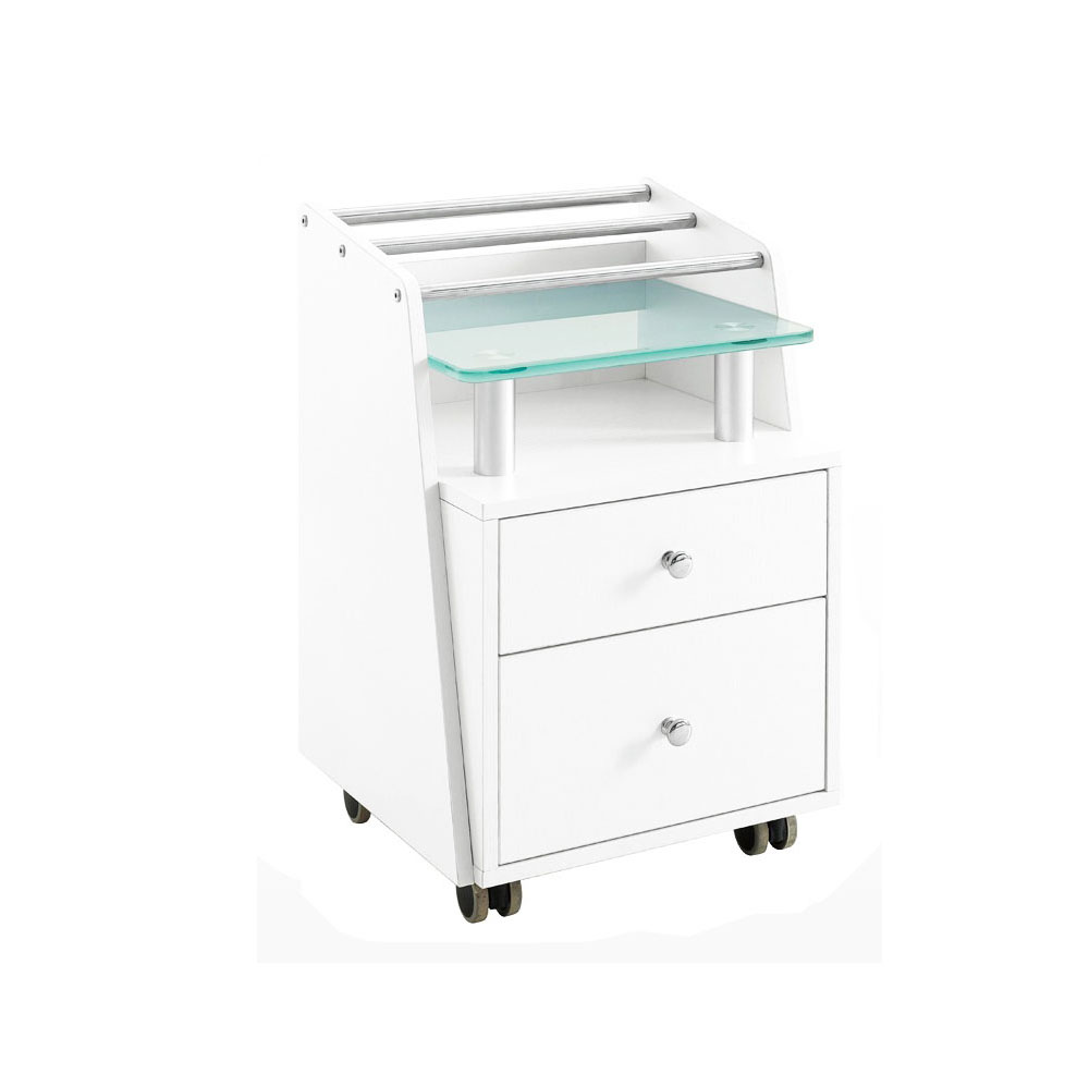 wholesale beauty nail furniture with pedi manicure table cart for hairdressing salon trolley /DS-BT2-P