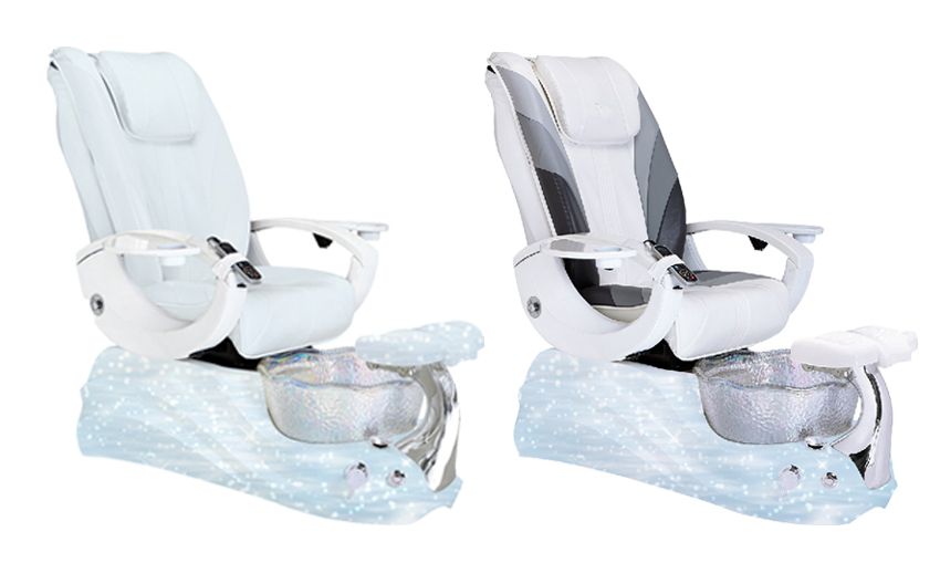hot sale pedicure manicure chair with shiny basin pedicure spa chair pump wholesale china DS-W2017