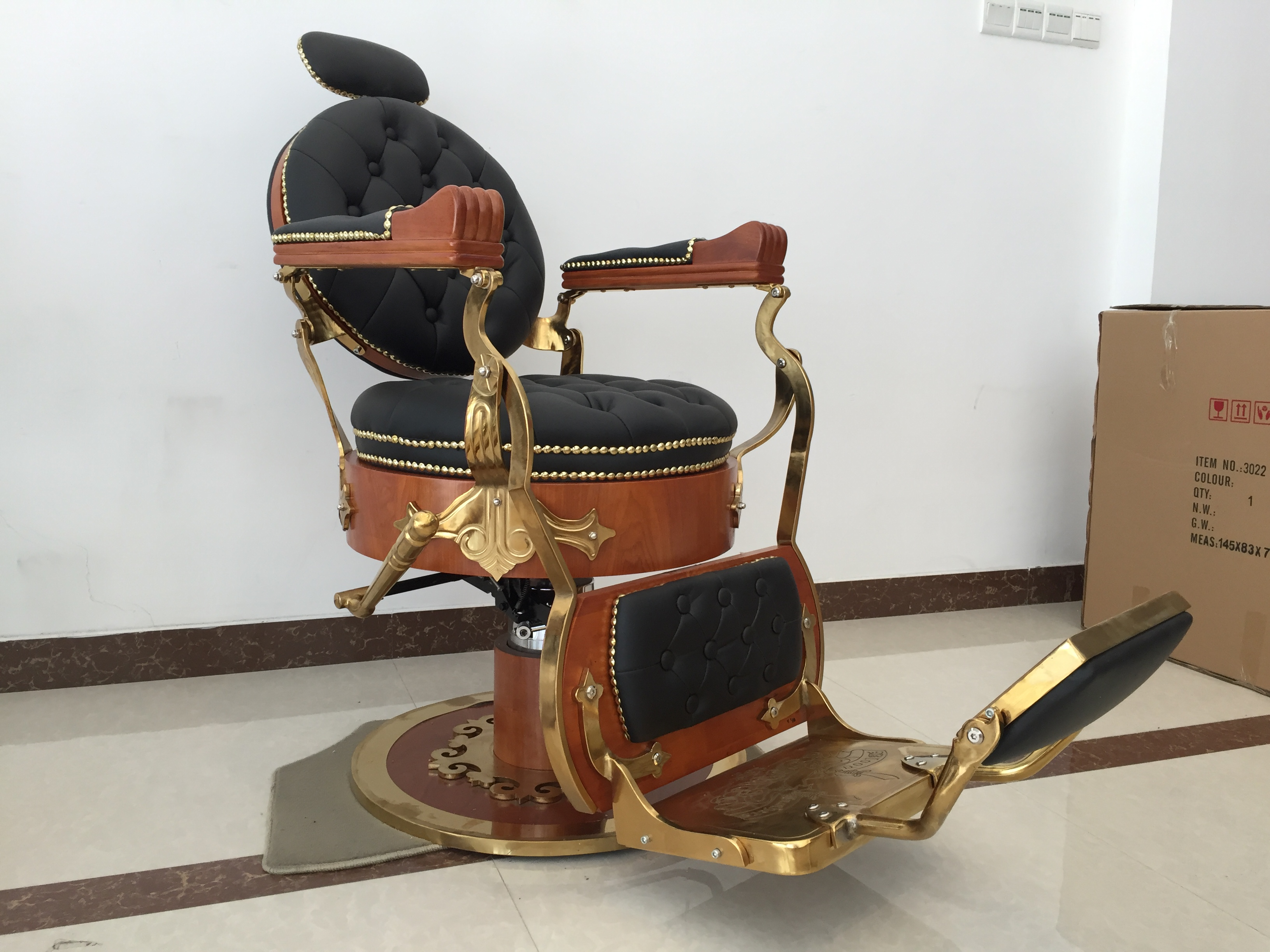 Doshower vintage barber chair for sale with old school style hairdressing chair for hair salon