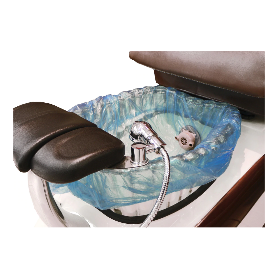 spa pedicure chair sink with disposable plastic liner foot spa sink manufacturer and supplies DS-T18