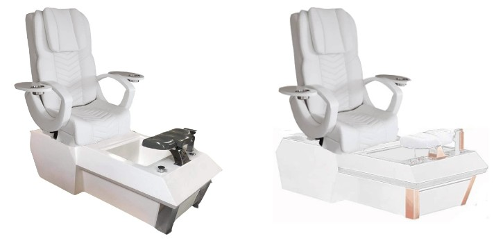 Wholesale White Pedicure Chair Luxury China Nail Salon Foot Spa Pedicure Chair Manufacturer DS-W1900B