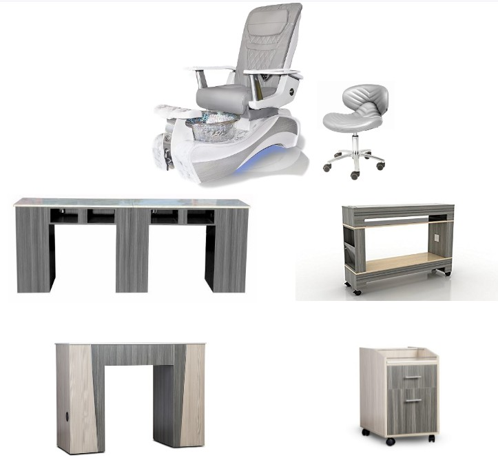 New Luxury Manicure Chairs Beauty Products Spa Pedicure Chair Nail Salon Furniture Supplies DS-W89B SET