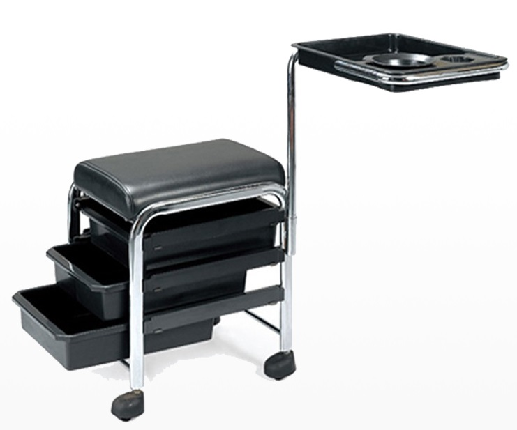 salon nail table suppliers with salon furniture for hairdressing and peidcure shop cart /DS-BT3-W
