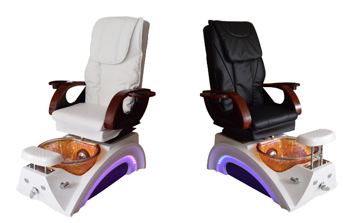 hot sale white leather pedicure chair foot spa massage manufacturer china 2019 DS-23