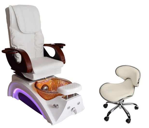 nail suppliers pedicure spa chair wholesale with manicure table salon furniture manufacturer china DS-23A SET
