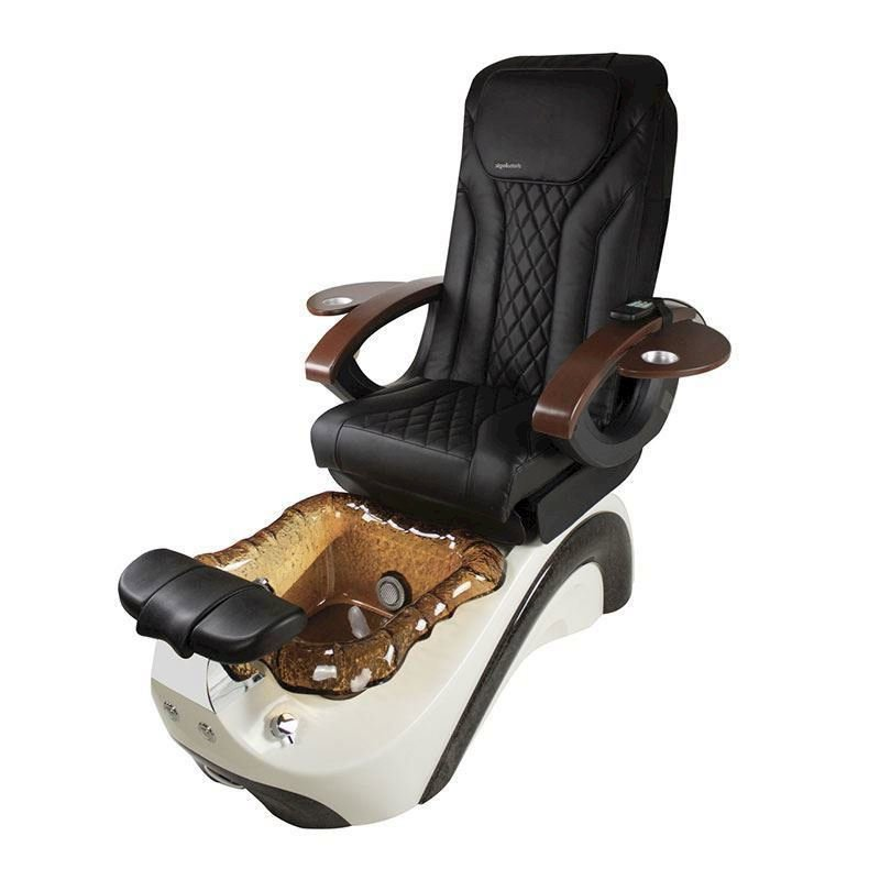 2019 popular pedicure chair nail supplier glass spa pedicure chair manufacturer china DS-W19114