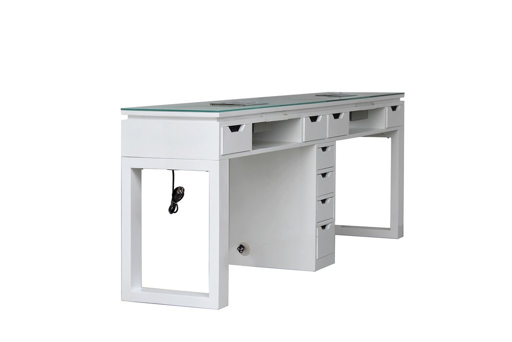 Beauty Double  Manicure Table with nail dust collectors nail salon product for sale