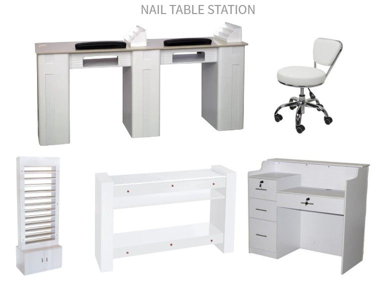 wholesale nail polish uv gel double manicure table dryer storage nail table china DS-N91232