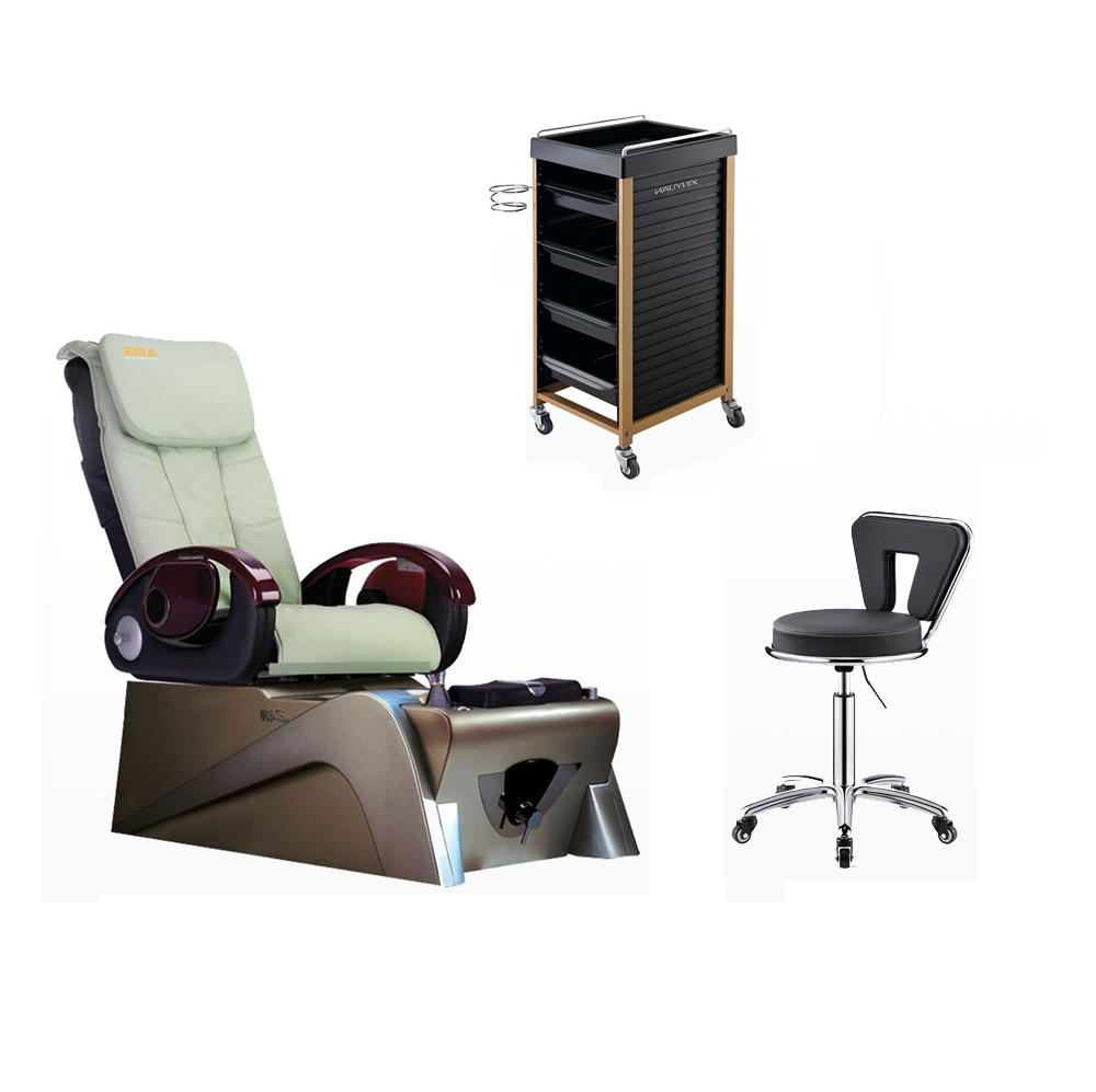 pedicure massage chair factory hairdressing furniture with ceragem v3 price supplier for king throne chair supplier china salon trolley /DS-TR2