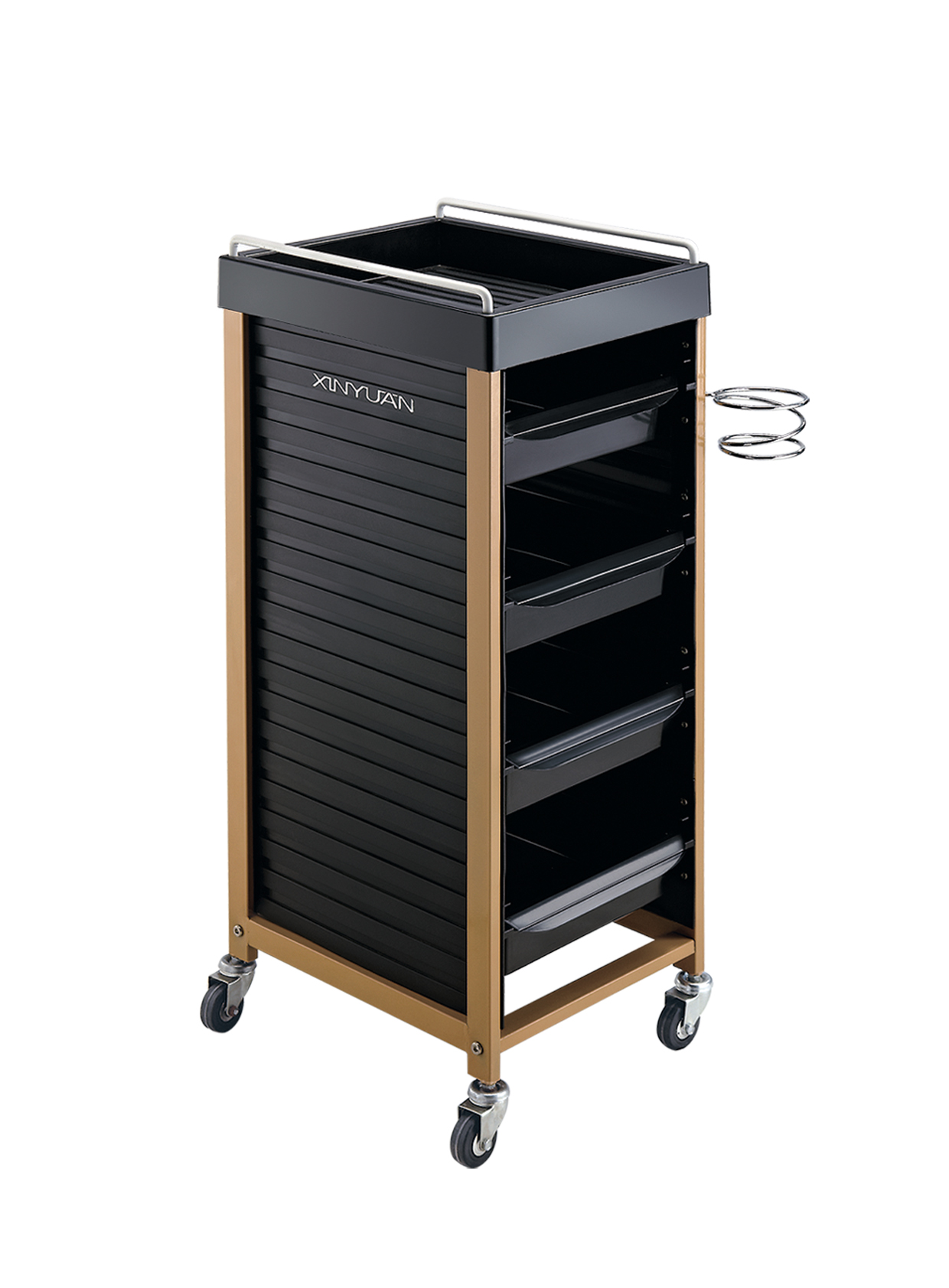 luxury hairdressing trolley cart tool with rolling wheel beauty salon furniture