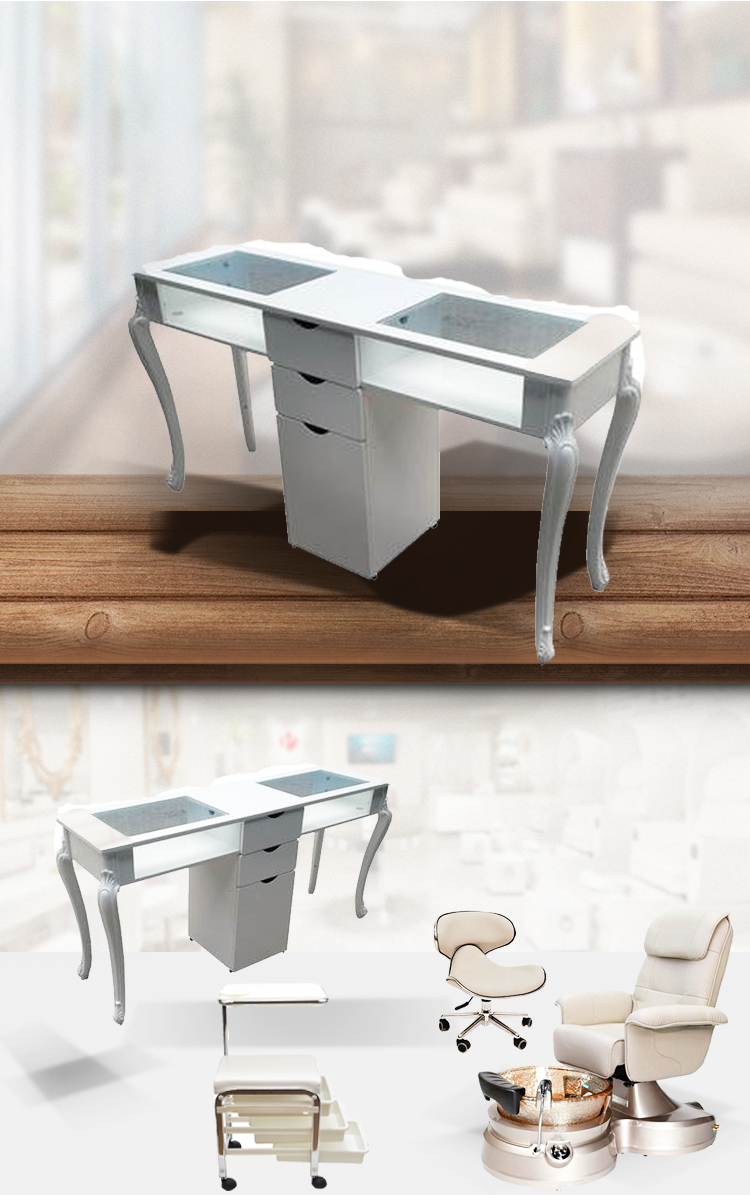 china used manicure table with nail table factory china for salon nail table suppliers / DS-WT06