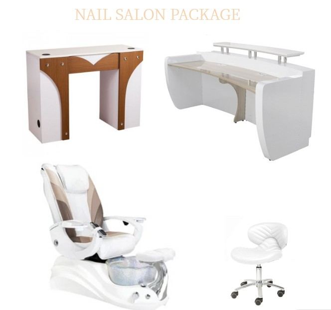 cream white pedicure chair modern manicure table supplies and manufacturer china DS-W18173B SET