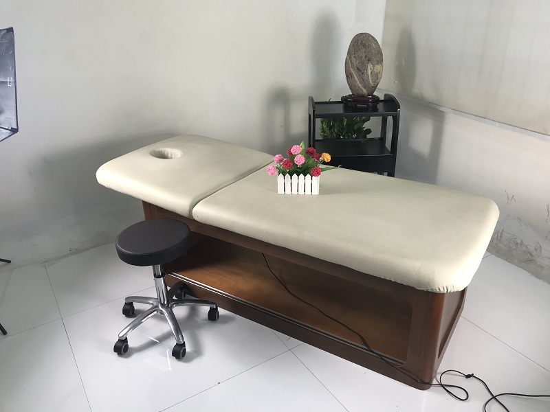 china wooden massage bed with wood spa massage bed manufacturer of electric massage bed DS-M9007