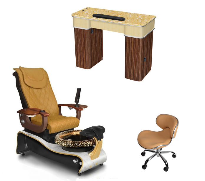 nail table supplier china with spa pedicure chair supplier of complete nail salon furniture supplier china DS-W21 SET