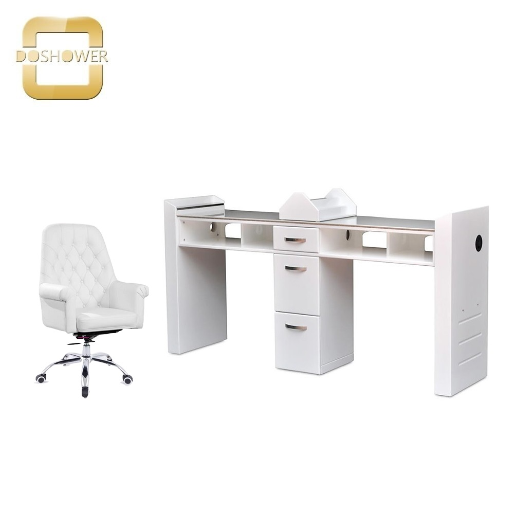 wholesale spa nail equipment package with new salon crystal pedicure chair and salon nail table DS-S17G SET