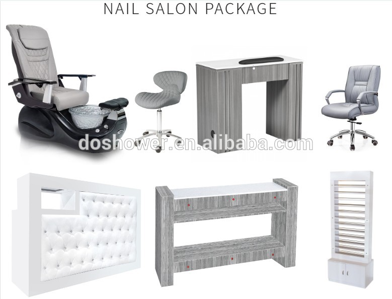 grey pedicure spa chairs foot wash crystal basin no pluming pedicure chairs nail salon furniture for sale DS-W85