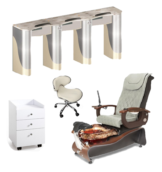 manicure chair supplier china with nail table factory china for spa pedicure chair manufacturer / DS-W1780