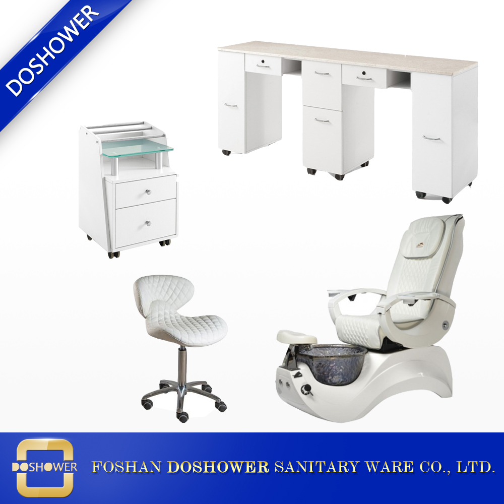 European pipeless pedicure chairs white spa chairs nail salon furniture