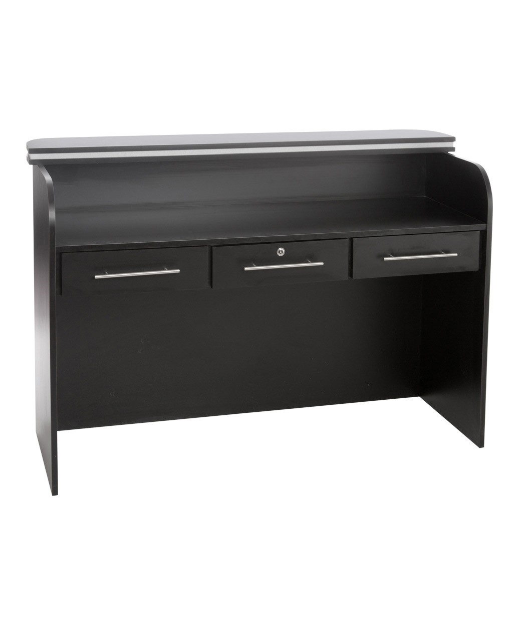 china beauty salon black reception desk reception counter desk salon front desk supplies DS-W1848