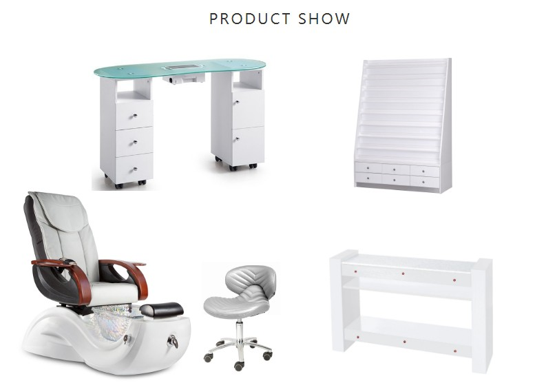 china spa pedicure chair and manicure table package spa package equipment manufacturer DS-S17H SET