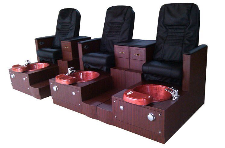 china hot sale whirlpool massage pedicure chair wood base foot spa pedicure chair wholesale DS-J13