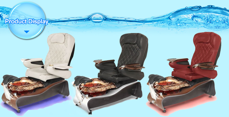 new style pedicure chair with pedicure chair luxury nail salon spa chair with stools on sale DS-W2028