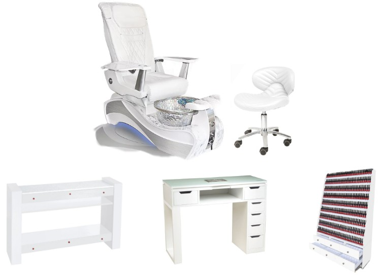 luxury white and silver spa pedicure chair supplies china with pedicure foot basin of pedicure spa chair manufacturer china DS-W89