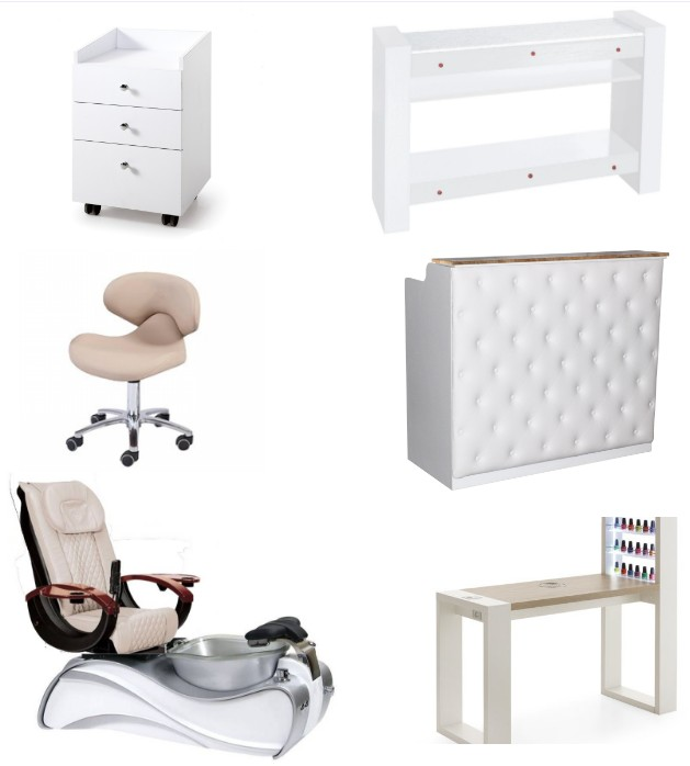china modern manicure table and pedicure chair of nail salon furniture deals for sale DS-S15A SET