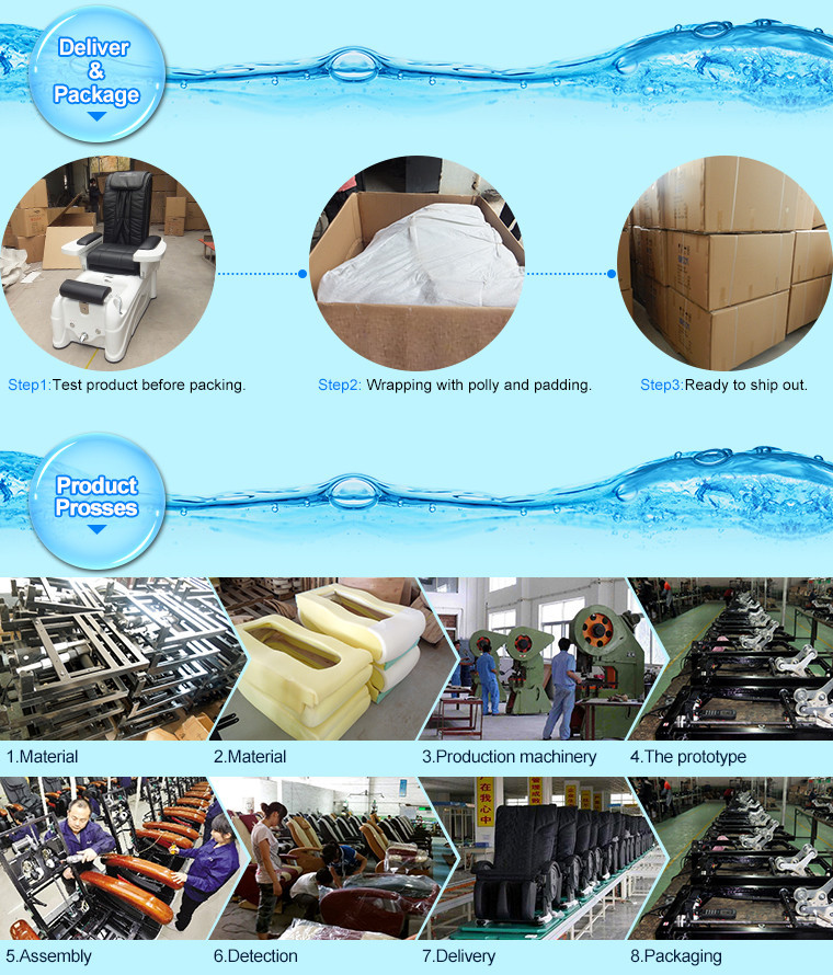 Luxury Pedicure Spa Massage Chair For Nail Salon Of