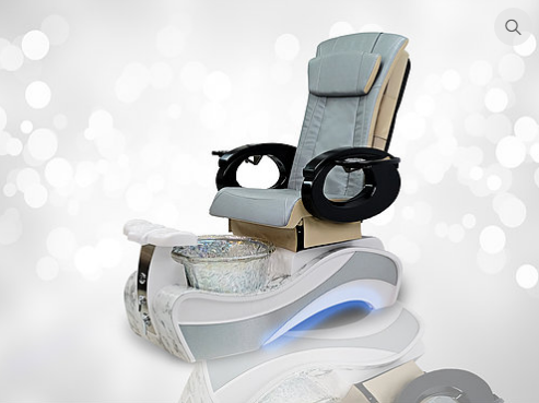 newest luxury design pedicure chair with led light of shiny foot spa tub base