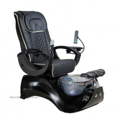 Hot sale crystal pedicure chair whirlpool jet system foot spa chair for nail salon furniture and equipment