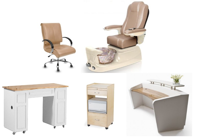 modern pedicure chair station nail salon spa manicure table package wholesale DS-W1785C SET