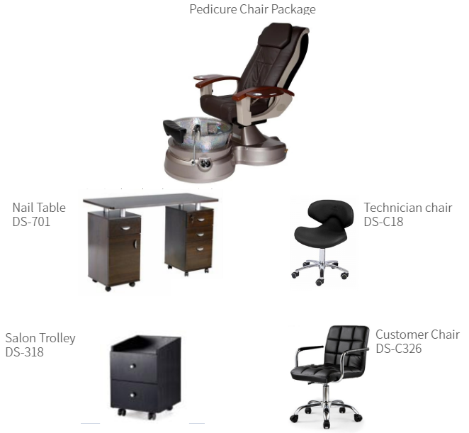 beauty salon furniture spa pedicure chair manicure table pedicure and manicure station on sale DS-L4004 SET