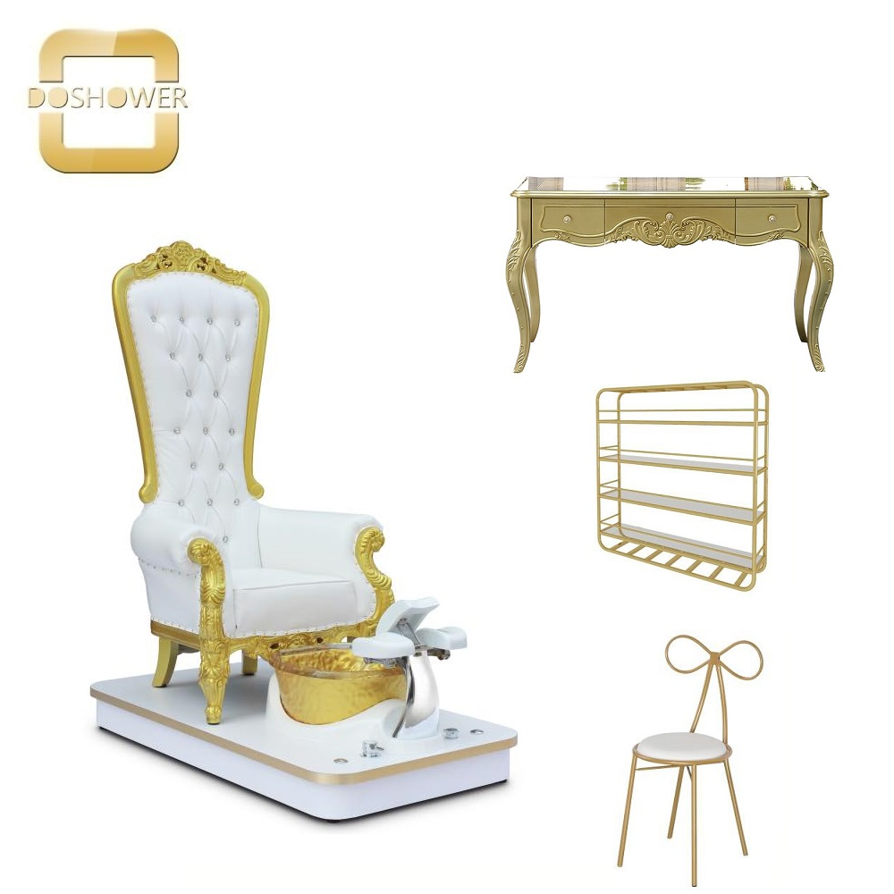 king throne pedicure chair throne chairs luxury gold king chair for sale DS-Queen G
